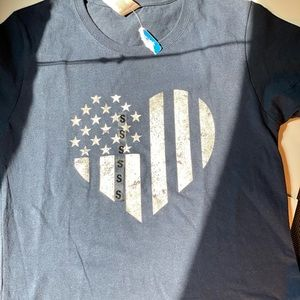 New Patriotic Small Blue T-Shirt